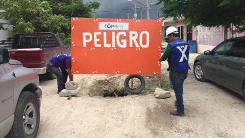 Sabotean señales de tráfico de COMAPA