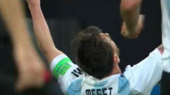 El primer gol de Lionel Messi en Rusia 2018