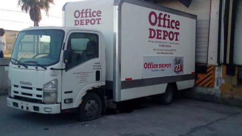Granadazo a Office Depot en Matamoros