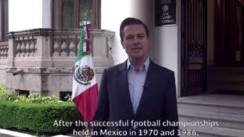 Peña celebra que México, Canadá y EU albergarán Mundial 2026