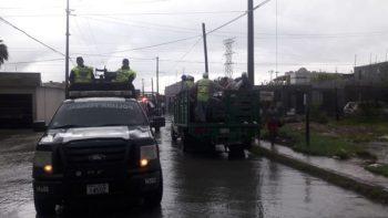 Policía Federal en Tamaulipas auxilia a la población afectada por lluvias