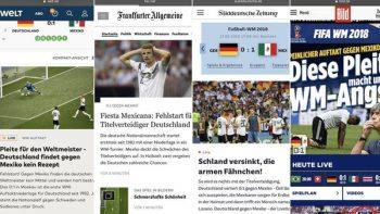 Prensa en Alemania explota por derrota ante México