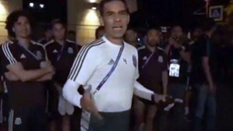 Jugadores de la Selección Mexicana reciben serenata en Rostov