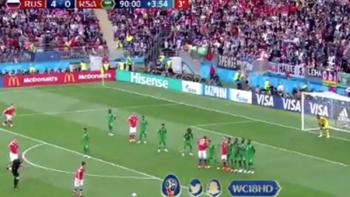 Rusia se impone 5-0 a Arabia Saudita