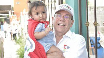 Inversión en educación y apoyo a la niñez será una prioridad para Serapio