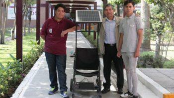 Alumnos del IPN crean silla de ruedas eléctrica con tecnología sustentable