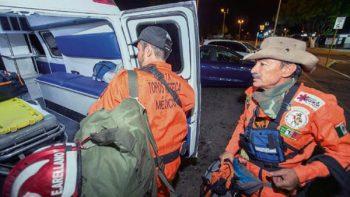 Topos mexicanos apoyan el rescate de cuerpos en Guatemala