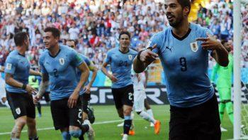 Uruguay se impone con autoridad 3-0 al anfitrión Rusia