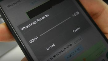 WhatsApp elimina grabadora de audio