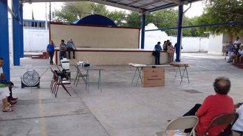 Abandonan material electoral en casilla de Matamoros