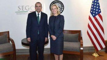 Acuerdan Navarrete Prida y Nielsen mantener diálogo en seguridad