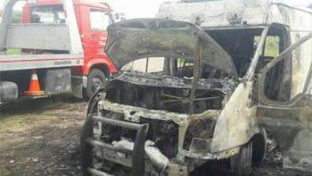 Hallan calcinada en Jalisco ambulancia de Zacatecas