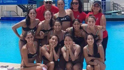México gana otra medalla de oro en nado sincronizado en JCC