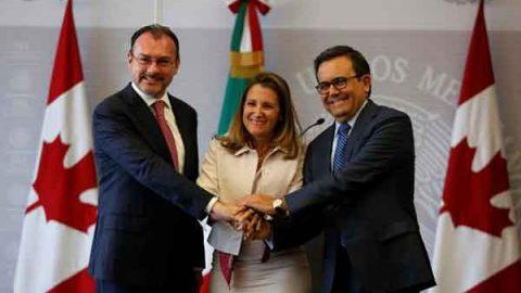 Destacan México y Canadá negociación trilateral de TLCAN