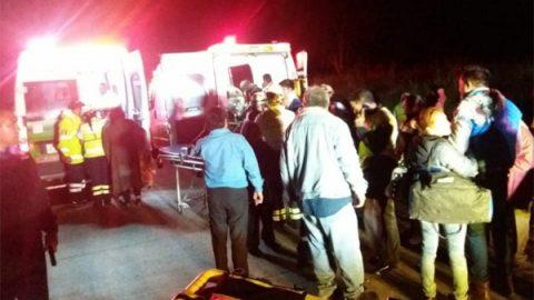 Accidente en la carretera Córdoba-Veracruz deja 34 heridos