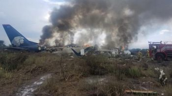 Terminan trabajos preliminares por accidente de Aeroméxico en Durango