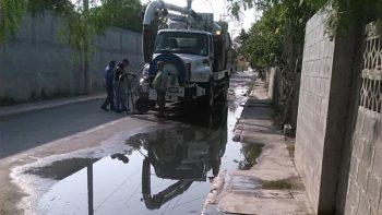 Eliminan brotes de aguas negras en Voluntad y Trabajo