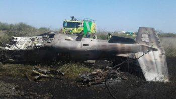 Un avión de la Fuerza Aérea se desploma en base militar de Ixtepec