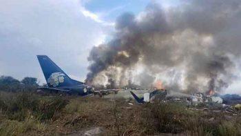 Se desploma avión de Aeroméxico en Durango
