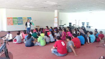 Disfrutan niños campamento 'Verano Saludable 2018'