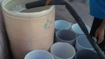 Continúa entrega de agua en San Valentín y Bugambilias