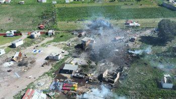 Suman 54 lesionados por explosiones en Tultepec