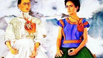 Salma Hayek 'se mete' en pintura de Frida Kahlo