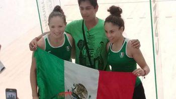 Longoria-Salas van por el oro en dobles femenil del raquetbol