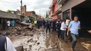 Lluvias en Michoacán dejan al menos 50 casas inundadas