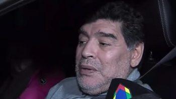 Maradona reaparece aparentemente borracho y manejando en Argentina