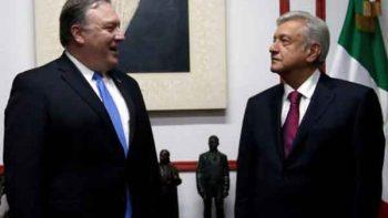 Concluye encuentro entre López Obrador y Mike Pompeo