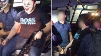 Detienen en Culiacán a 'payasos' asaltantes