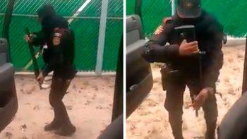 Policía de Nuevo León realiza reto viral de baile