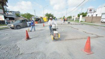 Rehabilita Municipio circuito vial entre bulevar Hidalgo y Ribereña