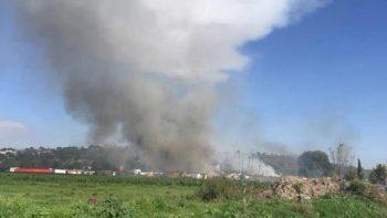 Peña Nieto lamenta muertes tras explosiones en Tultepec