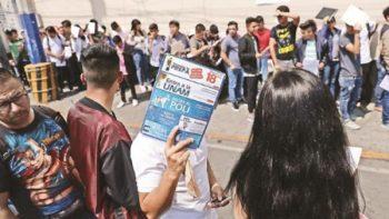 Resultados del examen de la UNAM, saturados