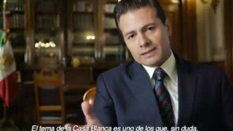 Peña reconoce que tema de la 'Casa Blanca' impactó negativamente