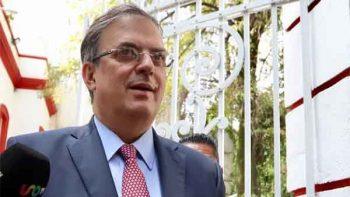 El muro no será tema con Trump, dice Marcelo Ebrard