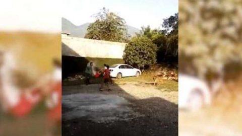 Investigan a mujer que roció con gasolina a su pareja