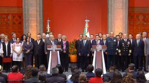 Cancelaré la reforma educativa, dice AMLO en reunión con Peña Nieto