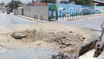 Tras imprevisto, reparan ducto de agua en colonia Hidalgo
