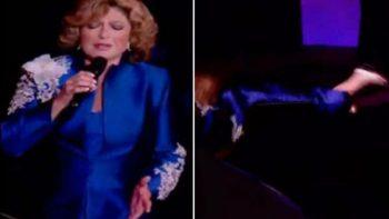 Angélica Vale bromea tras la caída de su mamá en el escenario