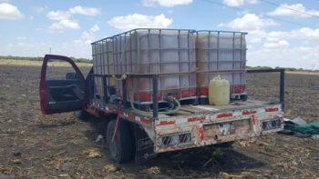 Aseguran 5 mil 400 litros de combustible en Tamaulipas