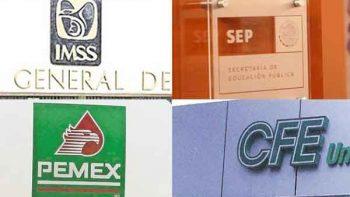 IMSS, SEP, Pemex y CFE con mejores prestaciones