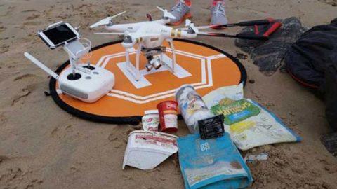 Drones contribuyen a recolección de basura en océanos