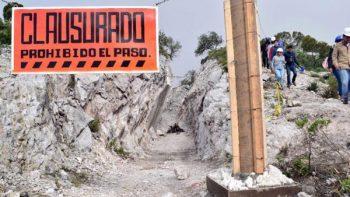 Clausuran mina de la comunidad Dengantza, Hidalgo