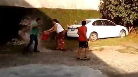 Investigan agresión de mujer que roció gasolina a ex pareja en SLP