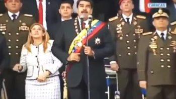 Estruendo causa pánico durante mensaje de Nicolás Maduro en Caracas