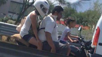 Dejan a niña conducir motocicleta en calles de Monterrey