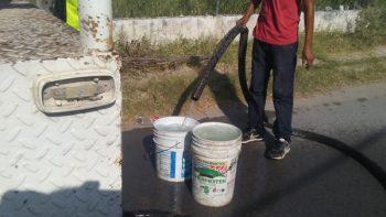 Colonias y ejidos reciben agua potable en pipas